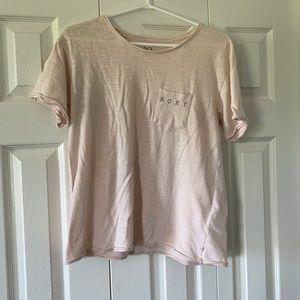 Roxy light pink/peach colour t-shirt size L🥰🥰